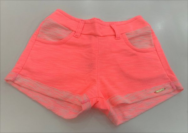 Shorts Feminino Moletinho Neon - 01 ao 03