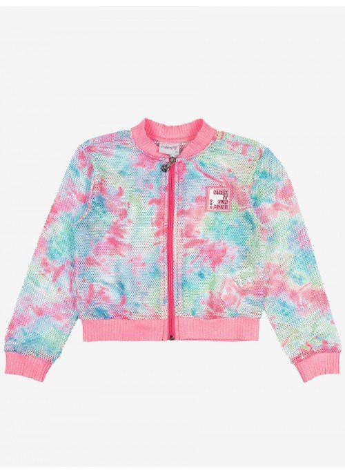 Jaqueta Bomber de Tela Tie-Dye Momi