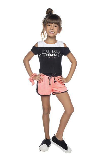 Shorts Feminino Neon Moletinho Have Fun 04 ao 08