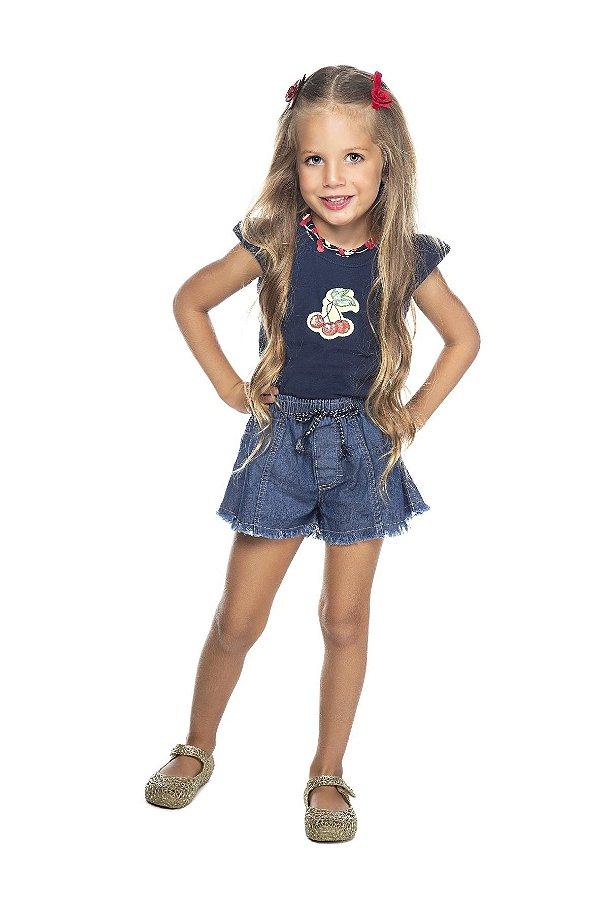 Shorts Feminino Jeans Stone