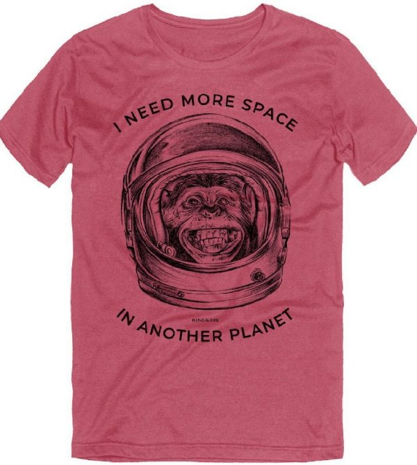 Camiseta T-Shirt Masculina Monkey Astronauta Roma 10 ao 16