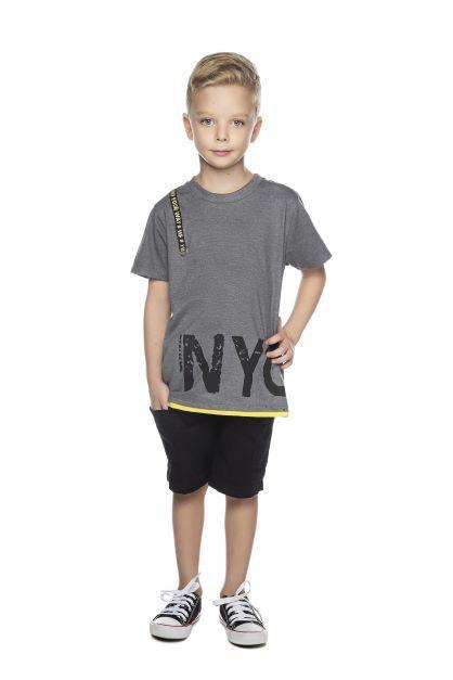 Camiseta Masculina Meia Malha NYC Have Fun 10 ao 16