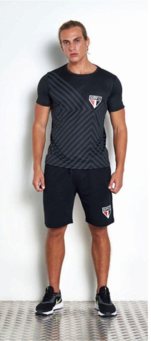 Camiseta São Paulo Preto Licenciado