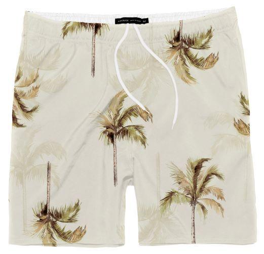 Shorts Praia Coqueiros Bege 10 ao 16