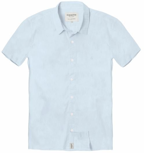 Camisa Masculina Voil M/C Azul 10 ao 16
