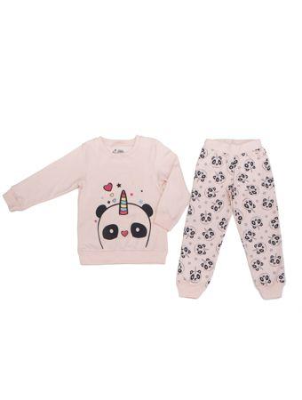 Pijama Feminino Pandacornio Rosa