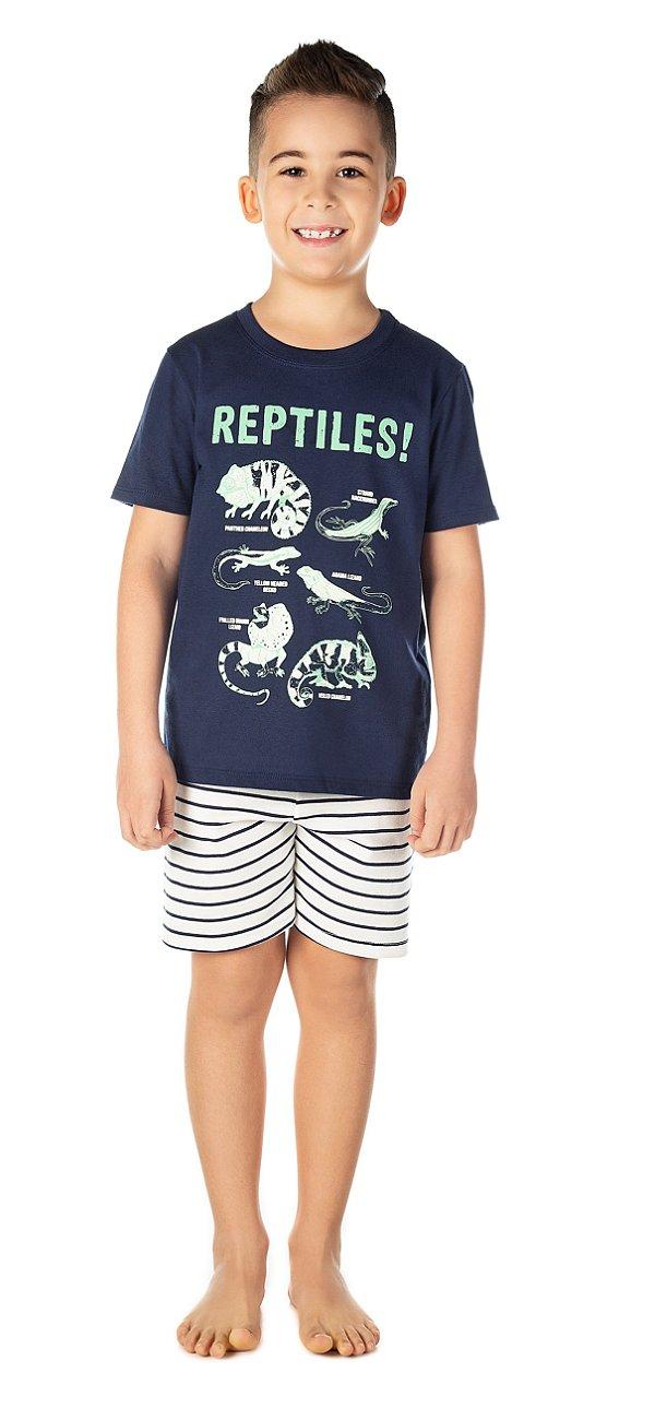 Pijama Masculino Répteis e Dinossauros