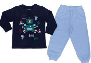 Pijama Masculino Inverno Moletinho Robo