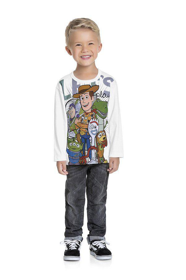 Camiseta Menino M/Longa Toy Story Fakini