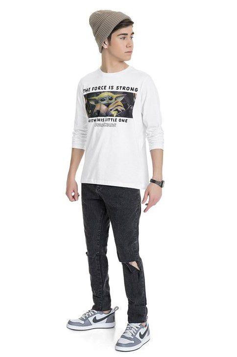 Camiseta Menino Manga Longa Star Wars