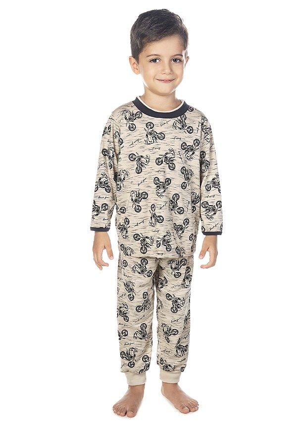 Pijama Menino M/Longa Motos