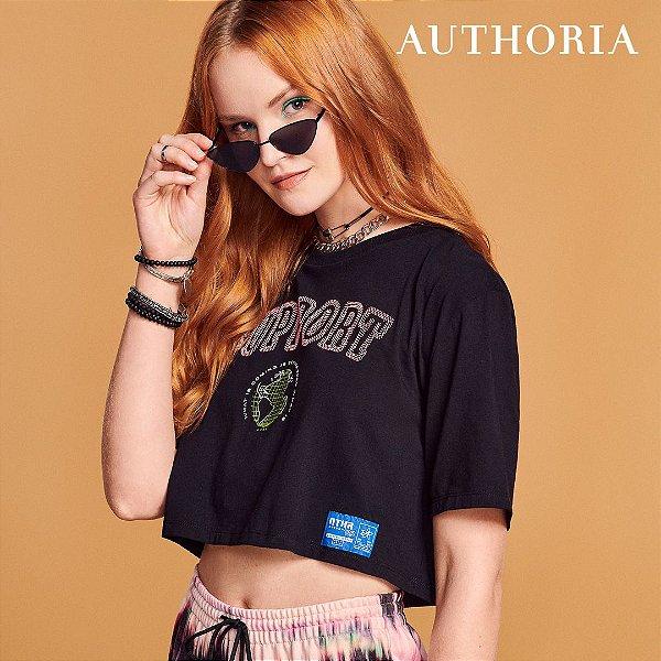 Blusa T-Shirt Feminina Juvenil Save The Planet M/Curta Authoria