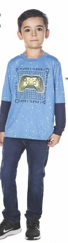Camiseta Masculina M/Longa Meia Malha Games