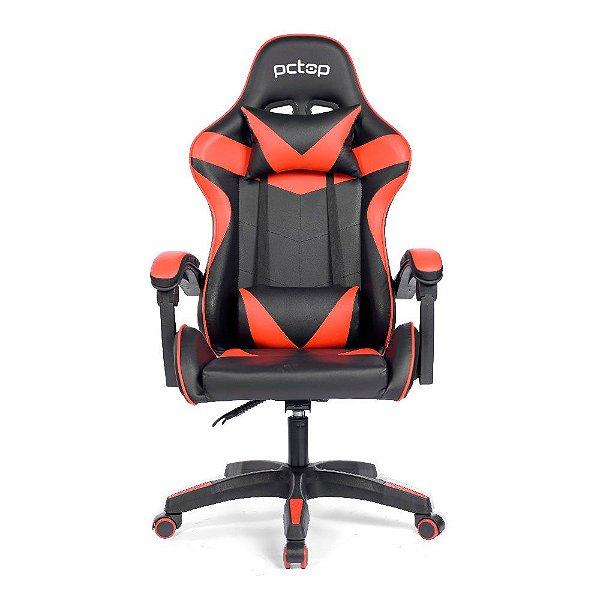 Cadeira Gamer Reclinável Pctop Strike - Vermelha/Preto 1005
