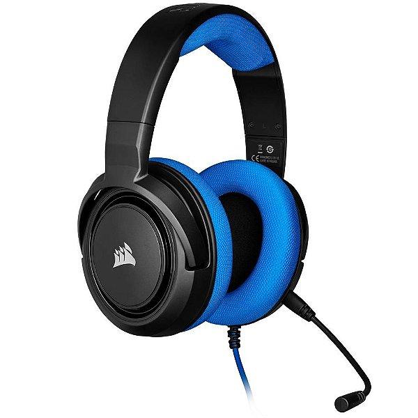 Headset Gamer Corsair HS35 Stereo Azul