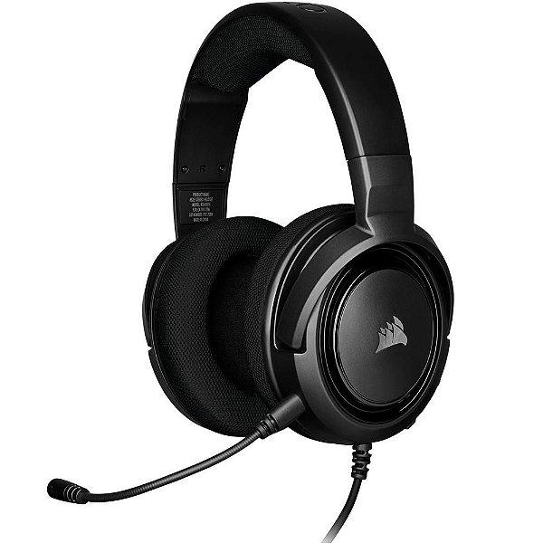 Headset Gamer Corsair HS35 Stereo Carbono