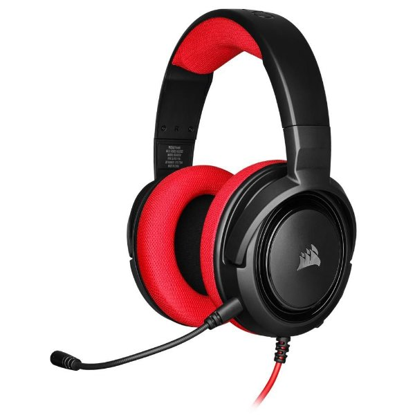 Headset Gamer Corsair HS35 Stereo Vermelho