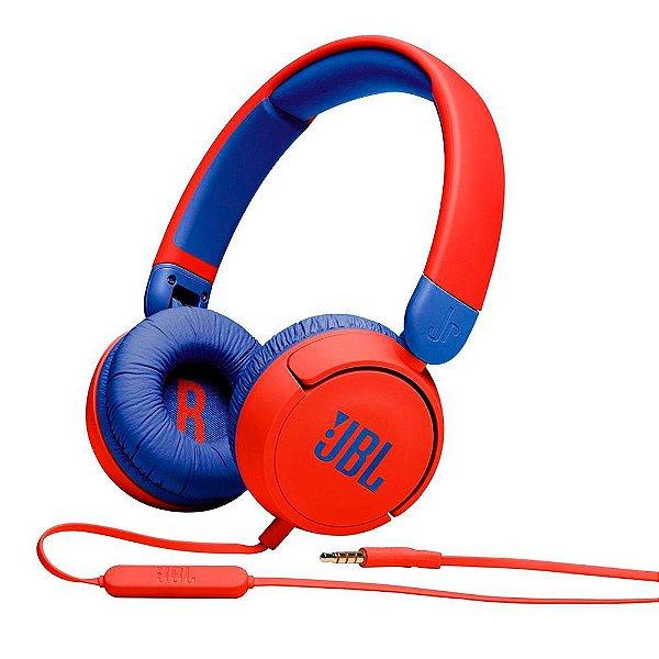 Headphone JBL JR310 Vermelho e Azul