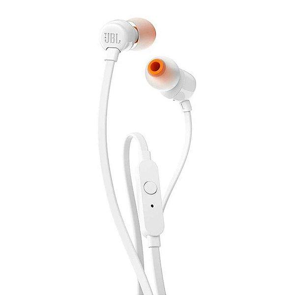 Fone de Ouvido JBL Tune 110 com Fio e Microfone Branco