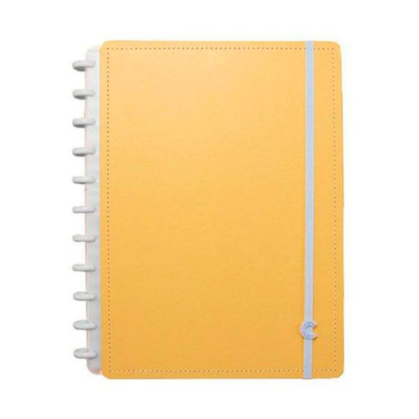 Caderno Inteligente Laranja Pastel Grande