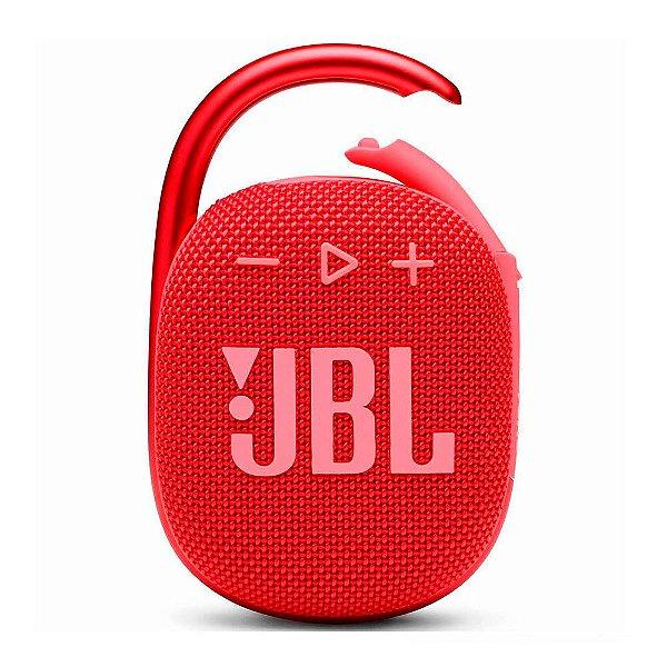 Caixa de Som Bluetooth JBL Clip 4 Vermelha