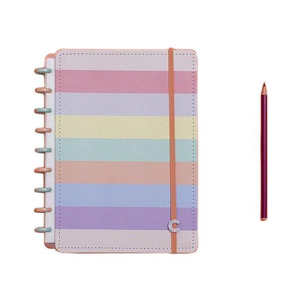 Caderno Inteligente Arco-Iris Pastel - Médio