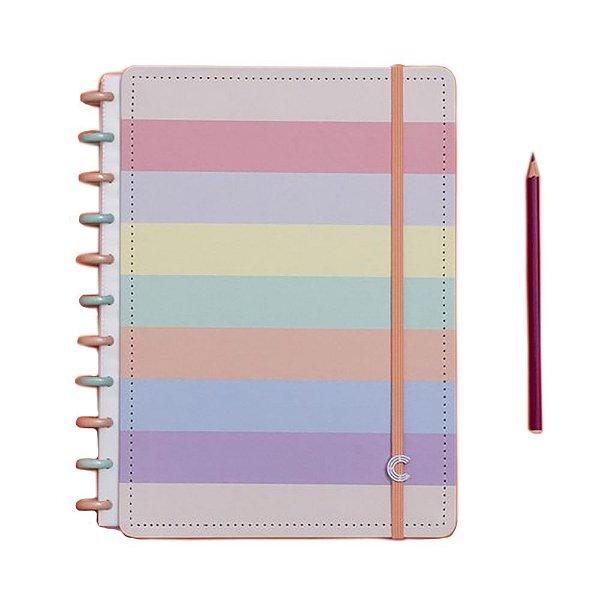 Caderno Inteligente Arco-Íris Pastel - Grande