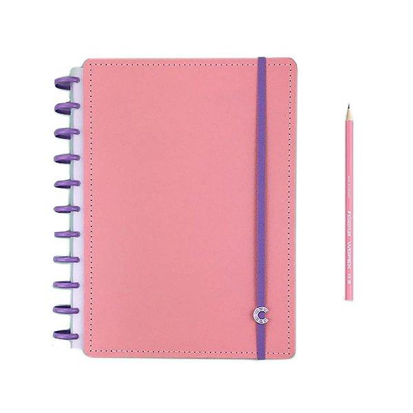 Caderno Rose Rosé + Grande +