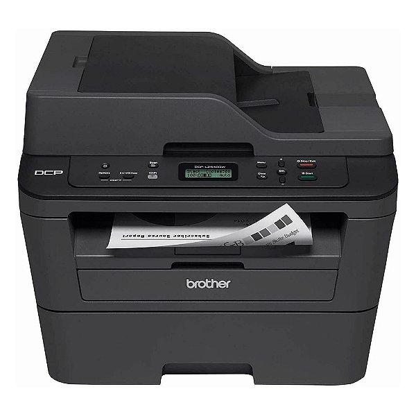 Impressora Multifuncional Brother DCP-L2540DW Laser, Mono, 110V, Wi-fi