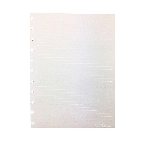 Refil Pautado Linha Branca Caderno Inteligente 120g Grande