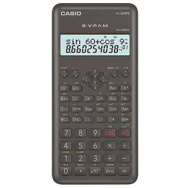 Calculadora Cientifica Casio FX-82MS 240 Funções Preta