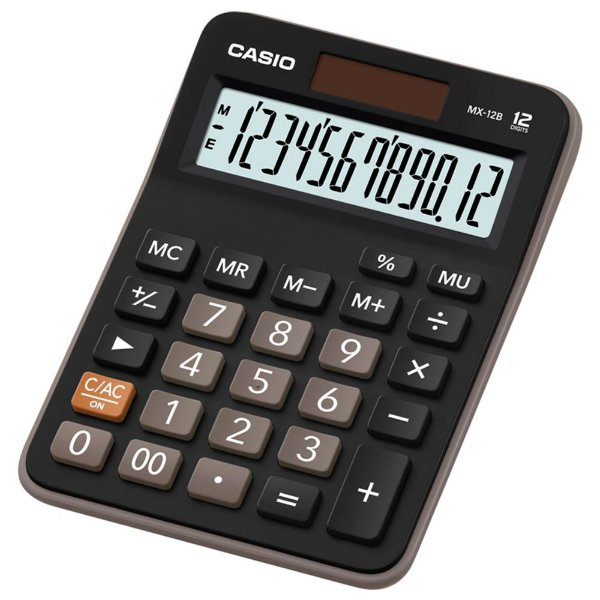 Calculadora de Mesa Casio MX-12B Preta