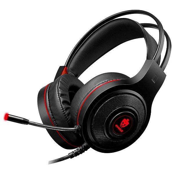Headset Gamer Evolut EG301R Temis Vermelho