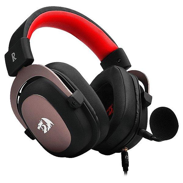 Headset Gamer Redragon Zeus 2, H510-1, USB, Surround 7.1