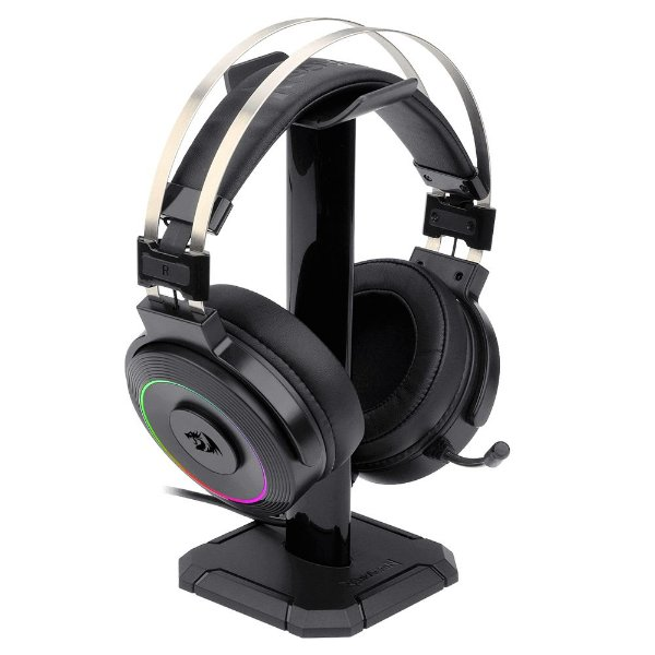 Headset Gamer Redragon Lamia 2, C/ Suporte, H320-, RGB, Preto, Surround 7.1