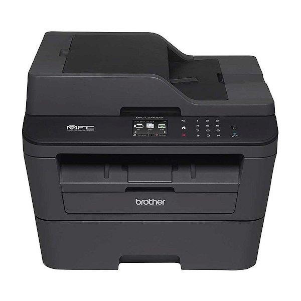 Impressora Multifuncional Laser Brother MFC L2740DW Monocromática