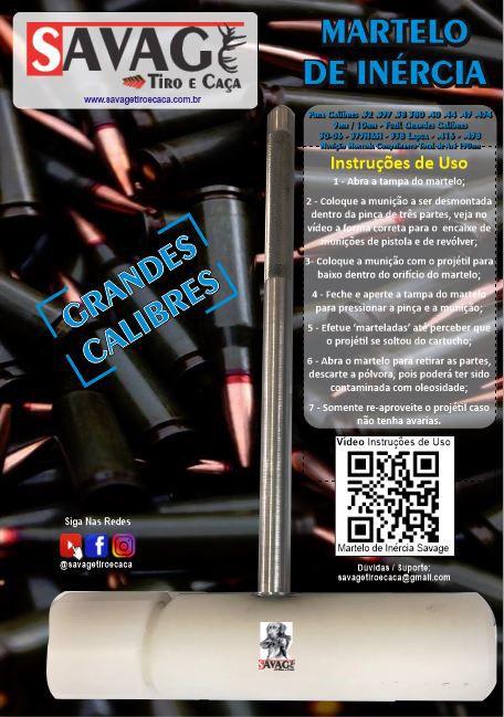 Super Martelo de Inércia - Grandes Calibres - P CAC + Brinde 3 Anéis Oring Grátis