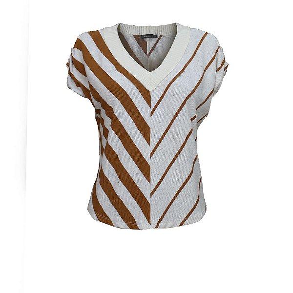 Blusa de Malha Decote em Tricot