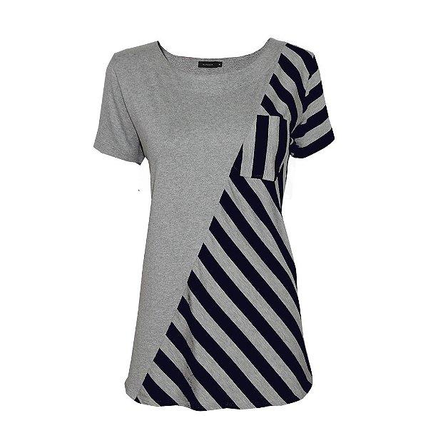 T shirt Detalhe Listra
