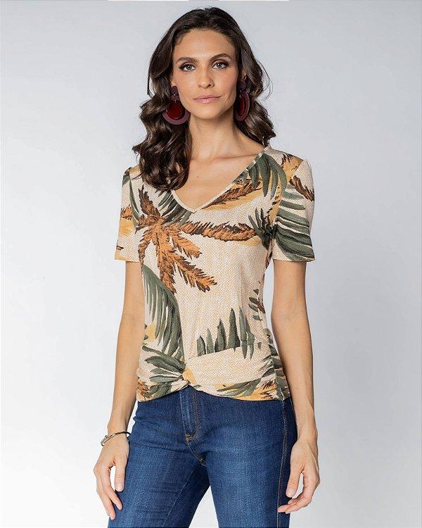 Camiseta Estampa Folhagem