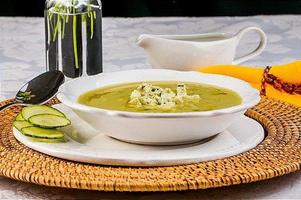 S2MS - Sopa de abobrinha com gorgonzola