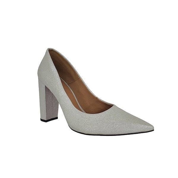 Sapato Scarpin Numeros Grandes Dom Amazona Prata 1250096