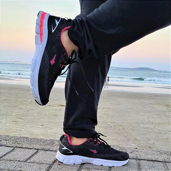 Tênis Feminino Esportivo Numeração Especial 4221 Preto/Pink