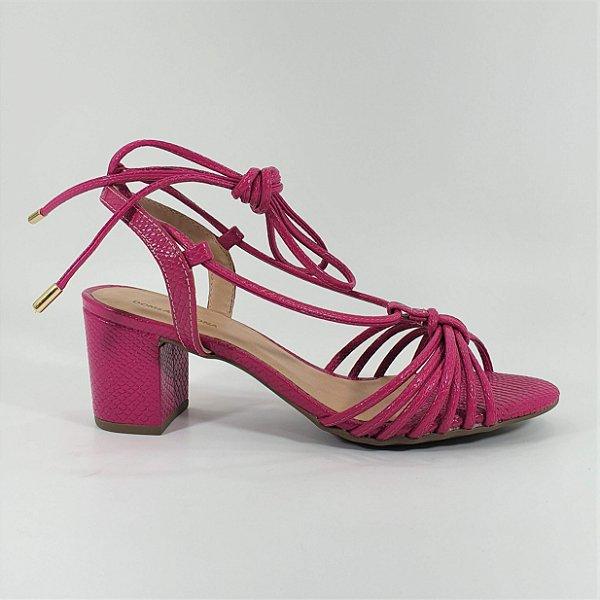 Sandália Tiras Salto Médio Dom Amazona Pink Numeração Especial CD 621