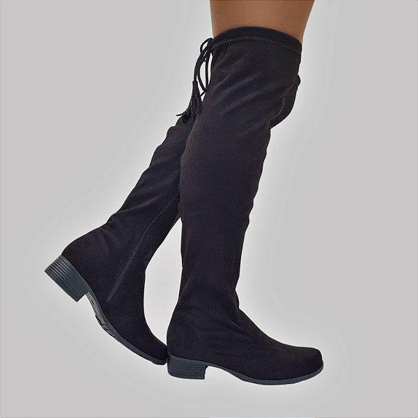 Bota Montaria Over The Knee Numeração Especial Camurça Strech 0960053