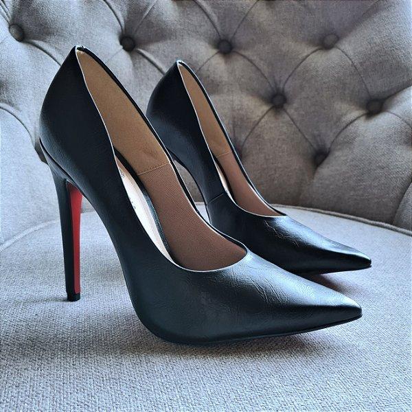 Sapato Scarpin Feminino Salto Alto Rugo Conforto 1720475