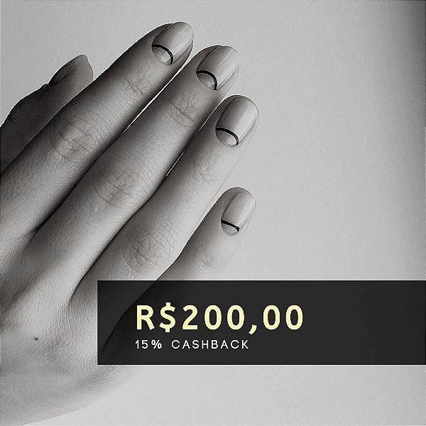 Voucher de R$ 200   Cashback de 15%