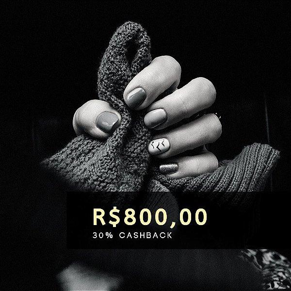 Voucher de R$ 800 | Cashback de 30%