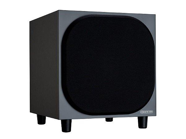 "Subwoofer Ativo Monitor Audio Bronze SBRSW10 para Home Theater - 10"" com 220W Class-D - Black / White - Bivolt"