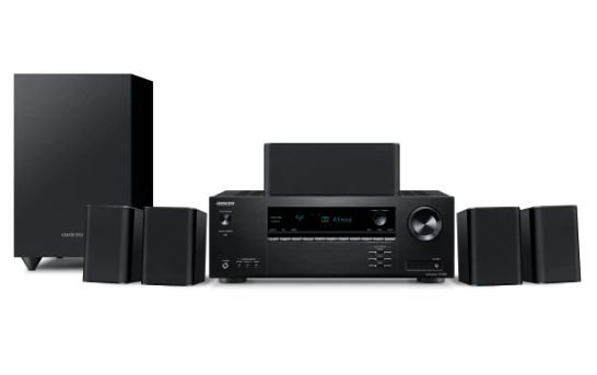 Conjunto Home Theater 5.1 Onkyo HT-S3910 Dolby Atmos DTS:X 4K HDR Bluetooth - Black - 110V
